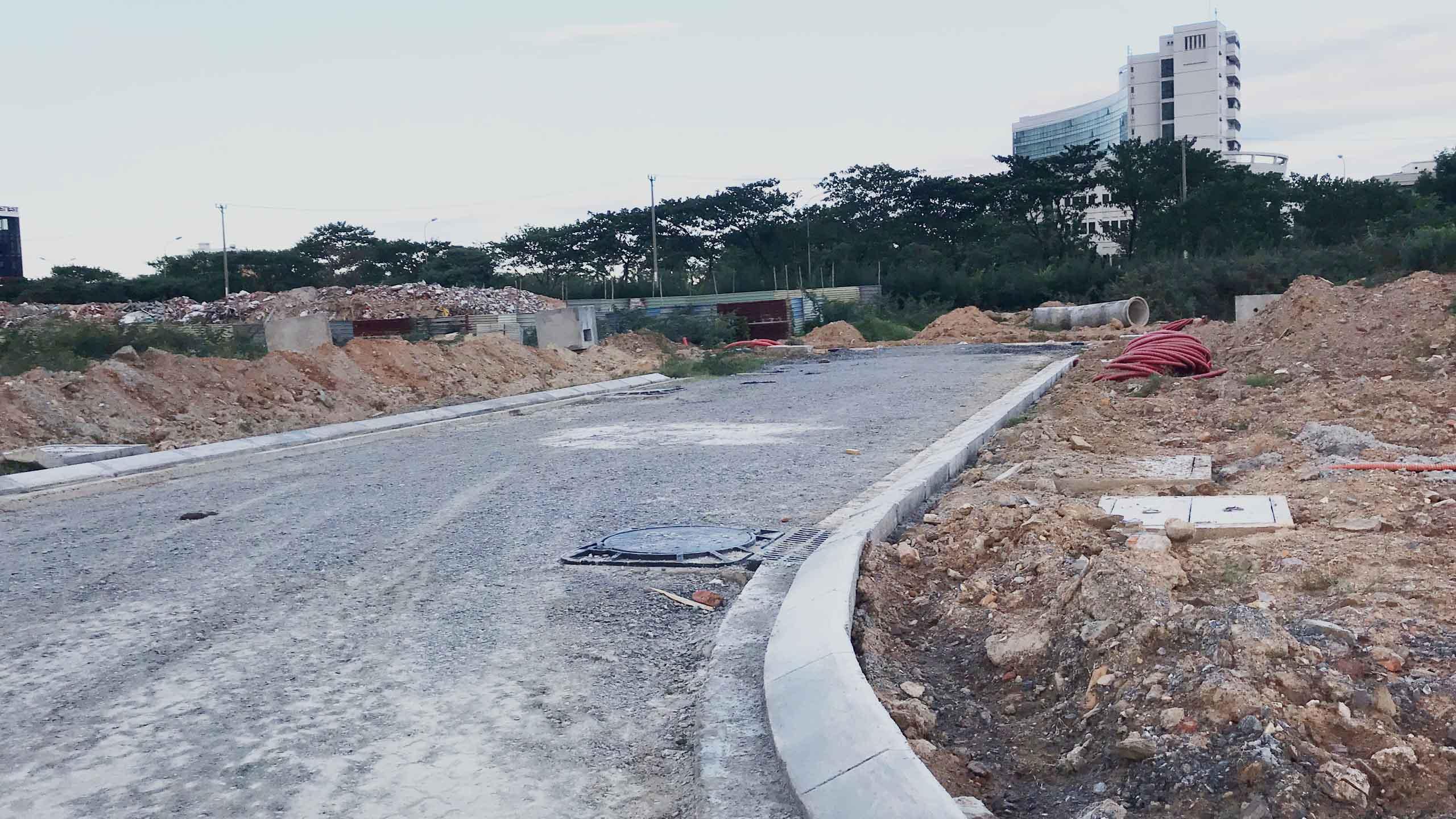 hạ tầng khu E Kim Long city