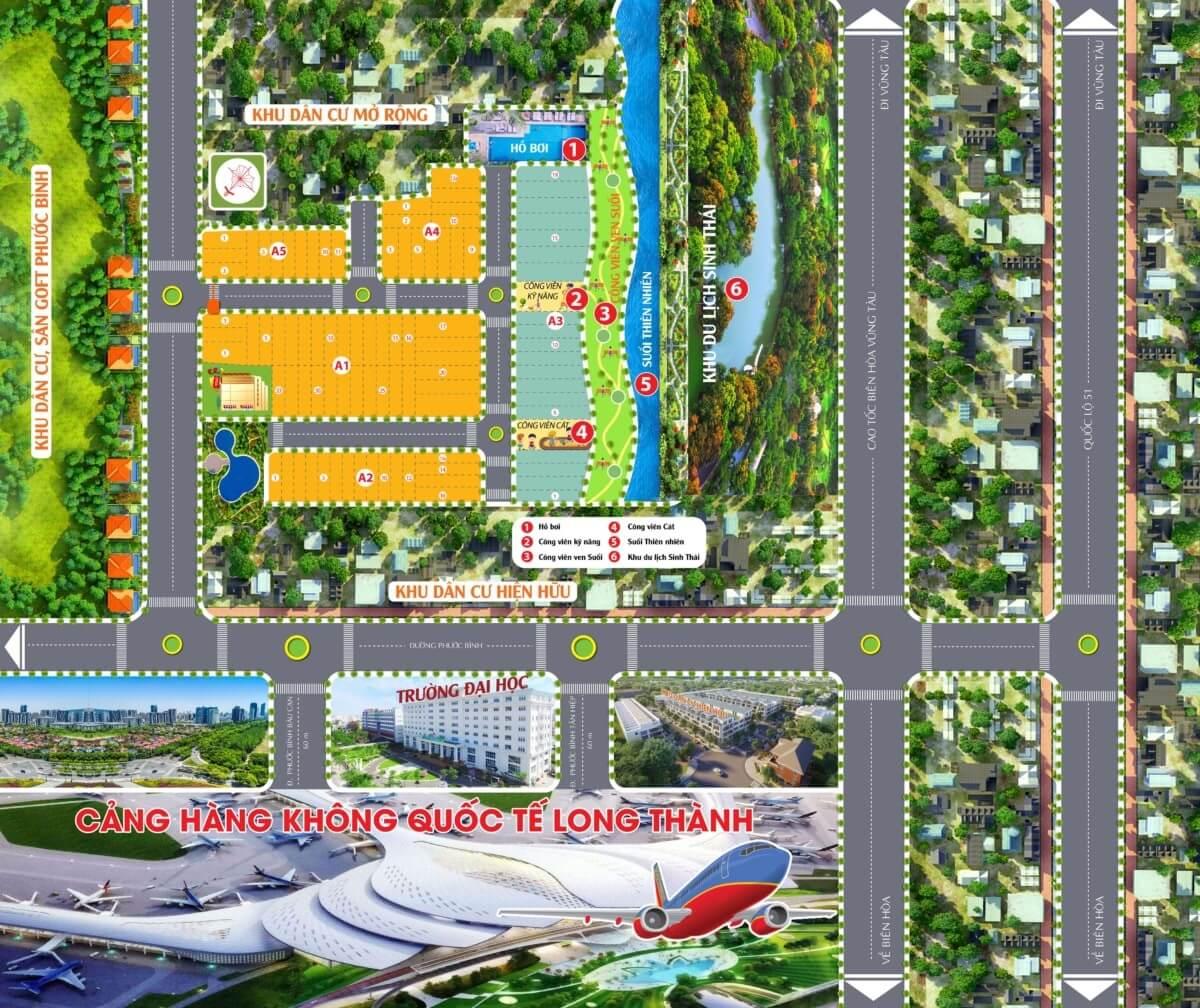 Sơ Đồ Phân Lô Dự Án Airport Village