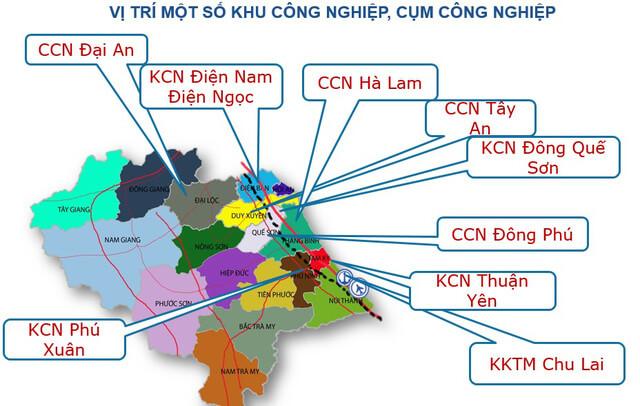 Các khu công nghiệp tại Quảng Nam