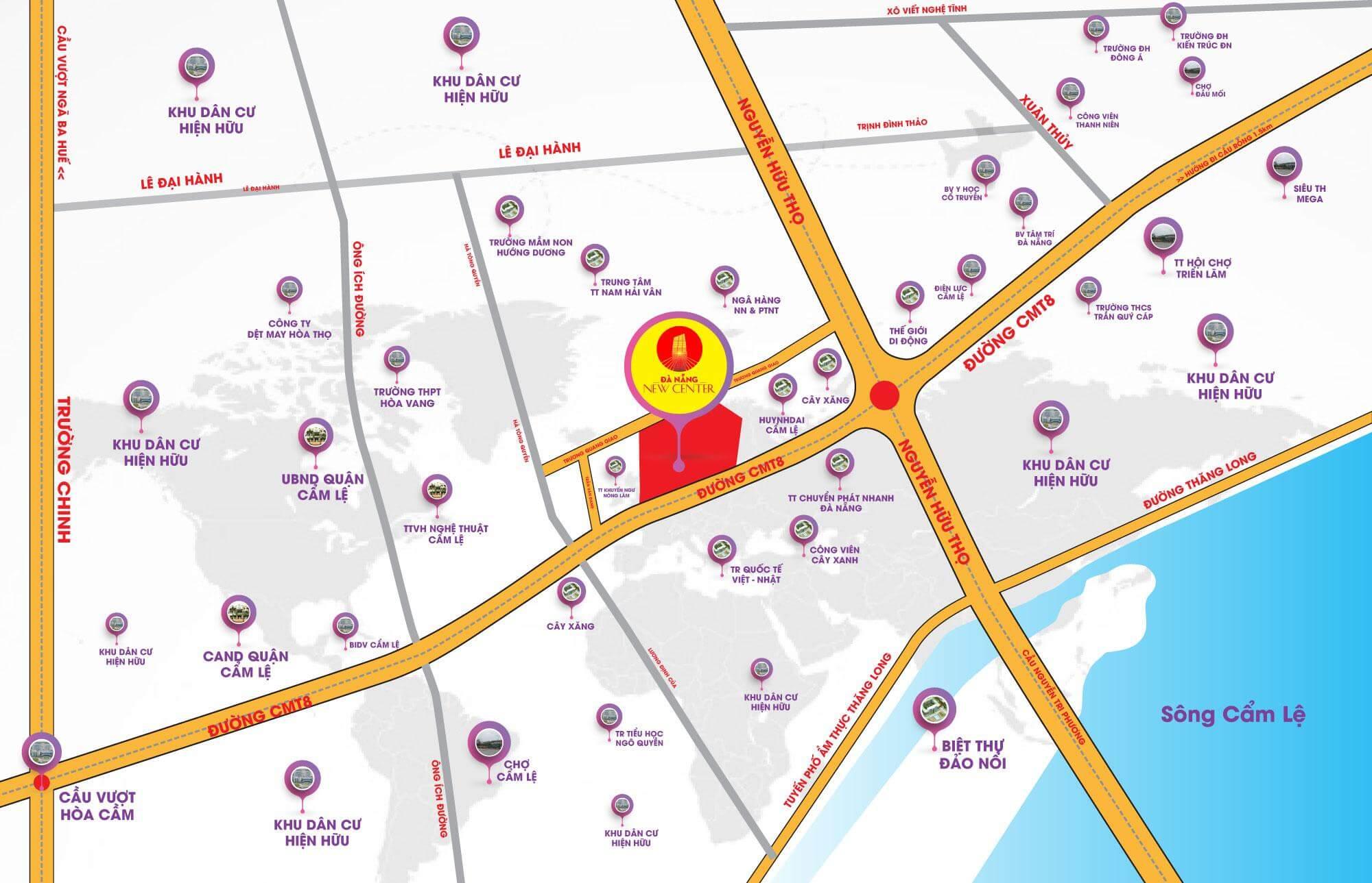 vị trí dự án đà nẵng new center