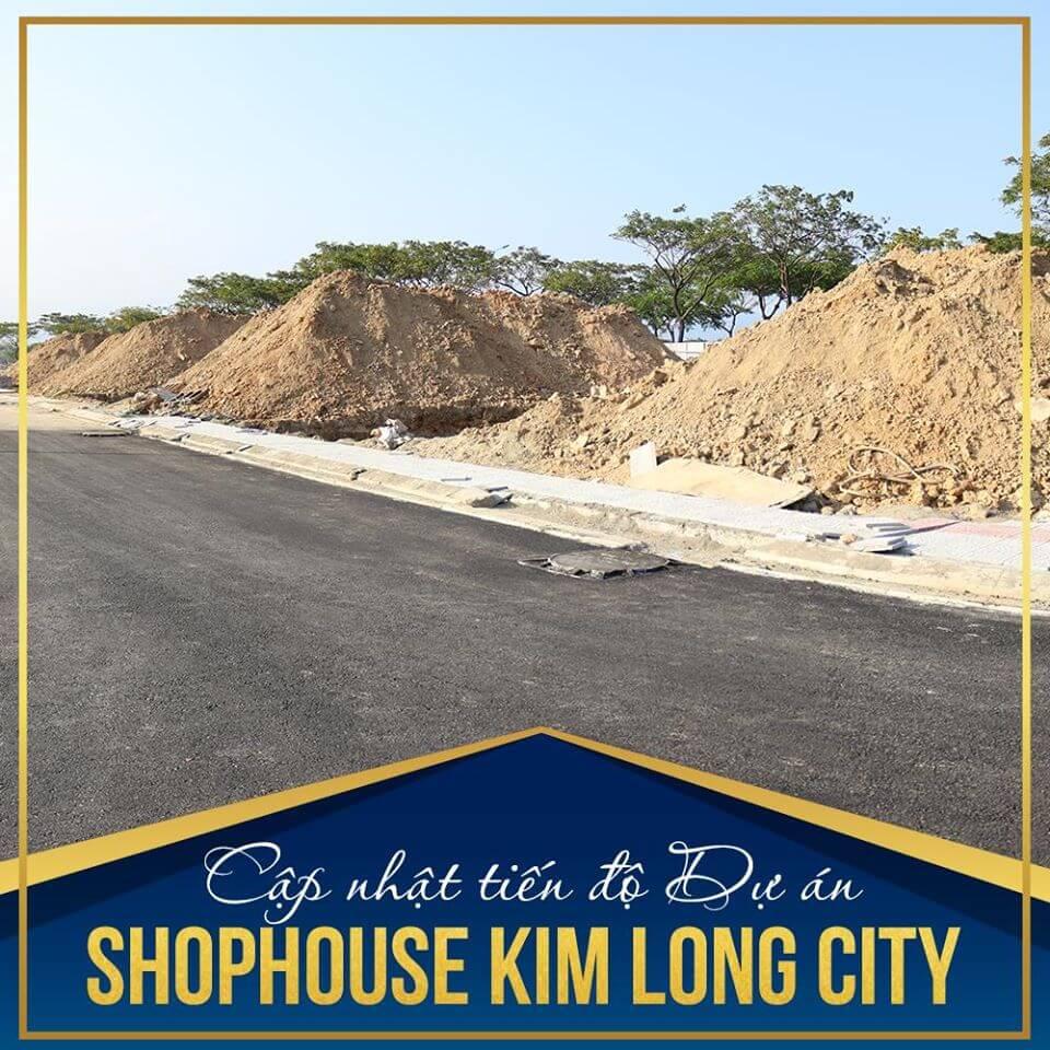 tiến độ shophouse Hoàng Thị Loan dự án khu E Kim Long city