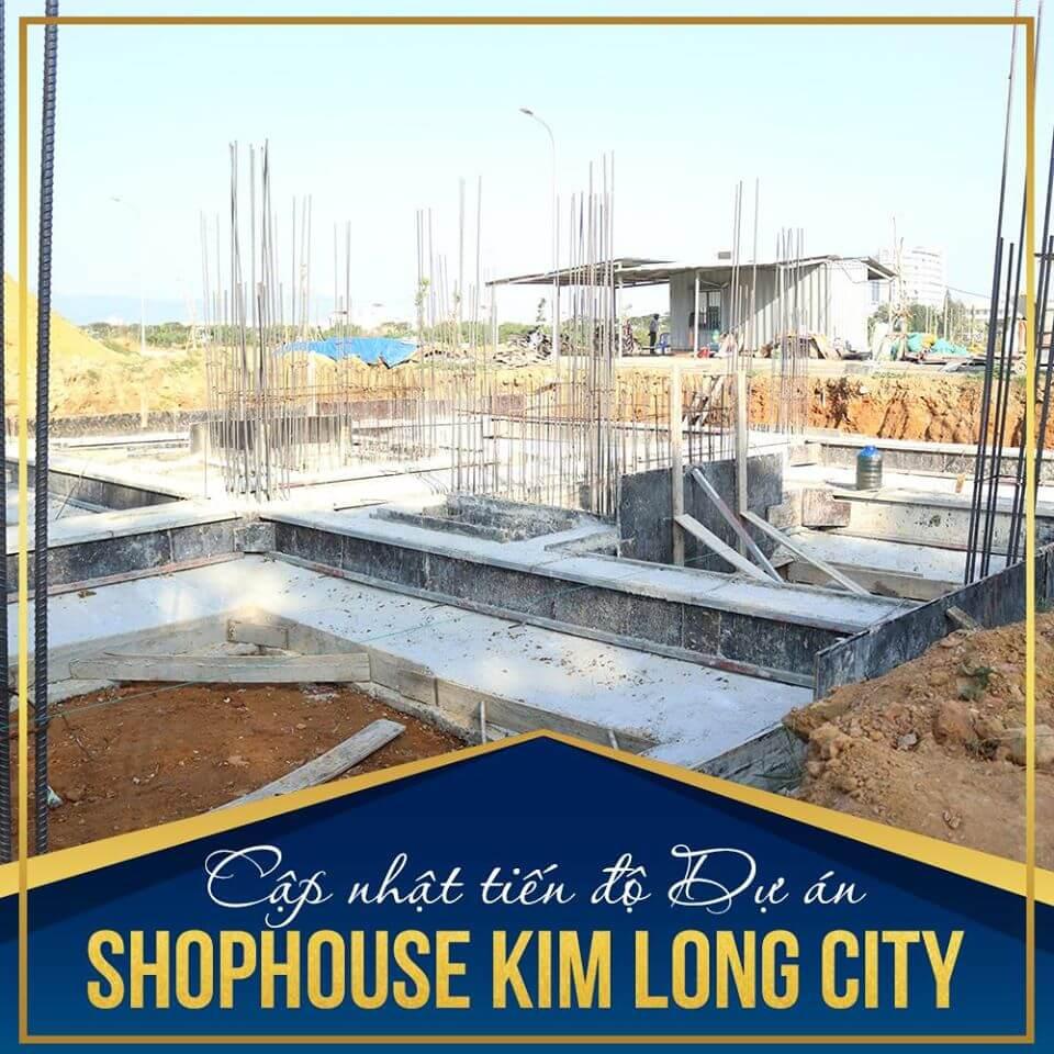 tiến độ shophouse khu e kim long city