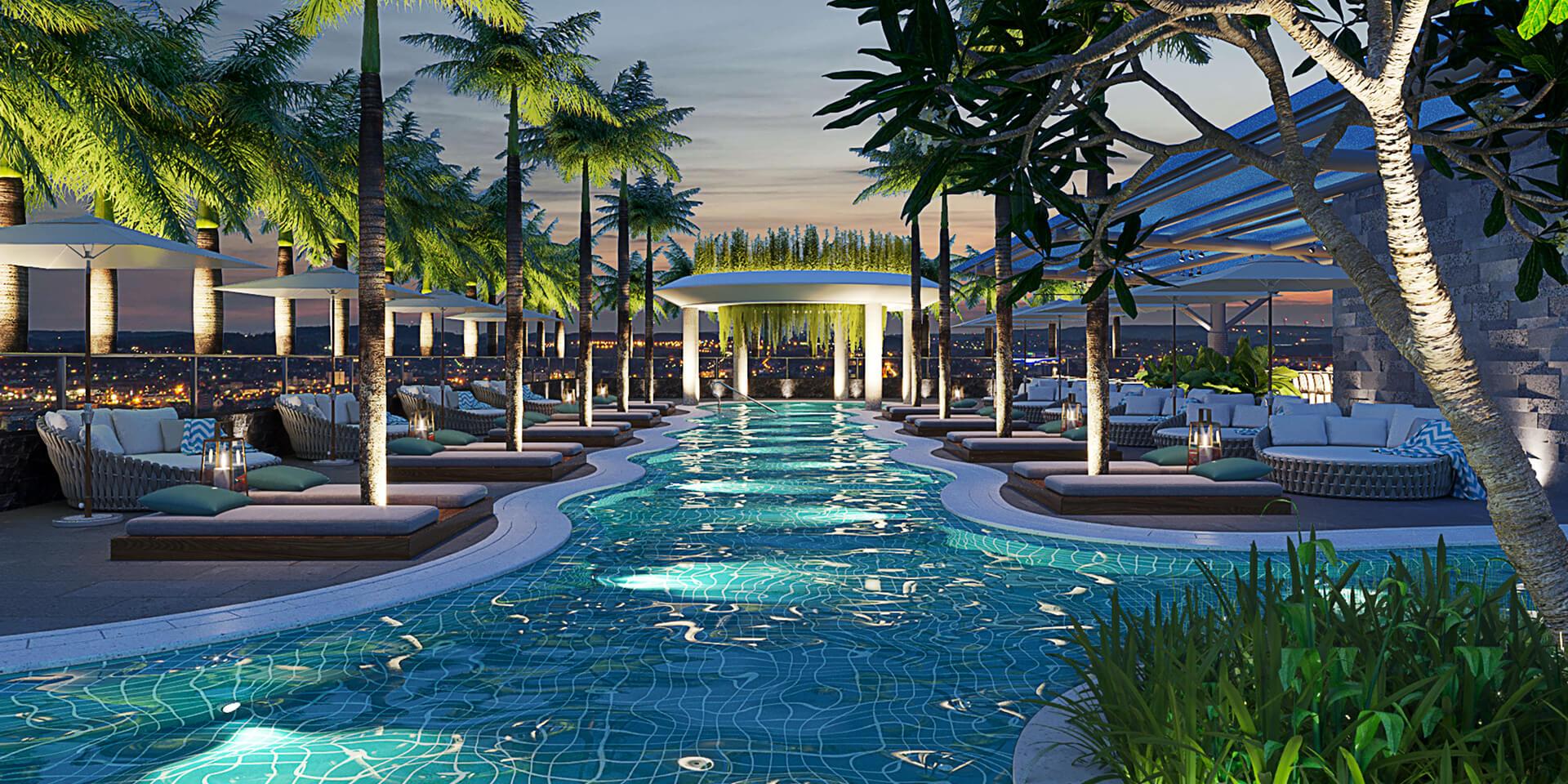 Hồ bơi căn hộ cung cư the royal đà nẵng